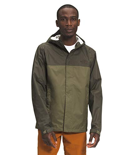 The North Face Men's Venture 2 Waterproof Hooded Rain Jacket, Burnt Olive Green/New Taupe Green, M