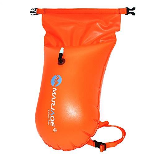 Flotar Bolso Seco De Deriva Bolsa De Natación Inflable De Seguridad Portátil Bolsa Flotante para Deportes Acuáticos Abiertos Nadadores De Aguas Y El Kayak Buceadores (Naranja)