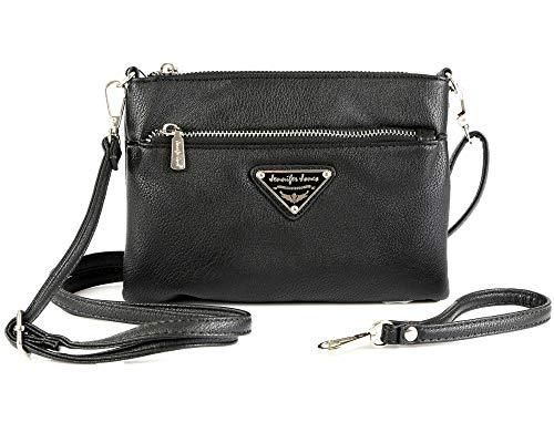 ekavale Kleine Damen Umhängetasche Schultertasche Handgelenk-Tasche für Frauen Handtasche Abendtasche (Schwarz)