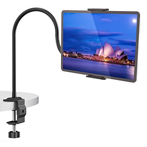 FAPPEN Tablet Halter, Schwanenhals Tablet Halterung-Lazy Flexible Einstellbare Lang Arm Ständer für Pad Mini 2 3 4, Neu Pad Pro 2019, Pad Air, Phone, und Weitere 4,7-10,5 Zoll Geräte