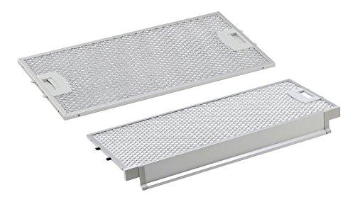 DREHFLEX - AK110 - für Bosch Siemens Neff Balay Fettfilter Metallfilter Metallfettfilter für diverse Dunstabzugshaube - passt für Teile-Nr. 00434107 (434107) hinten & 00434105 (434105) vorn