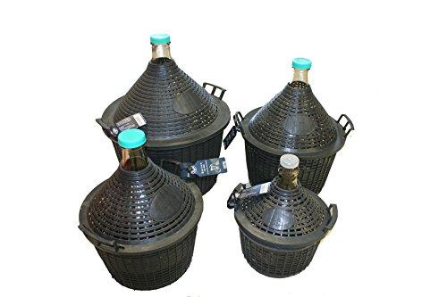 Hefereinzucht Schlag Glasballon Gärballon Weinballon im Kunststoffkorb in verschiedenen Größen 5-20 Liter (20 Liter)