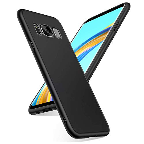 Coque pour Samsung Galaxy S8, TPU Souple Bumper Protection, Anti-Choc & Anti-Rayure, Protection Tout Round Housse Portable Full-Cover, Case Cover pour Samsung Galaxy S8, Noir