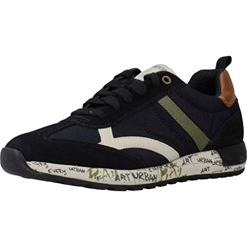 Geox Jungen J ALBEN Boy A Sneaker, Blau (Navy/Military Cf4a3), 35 EU