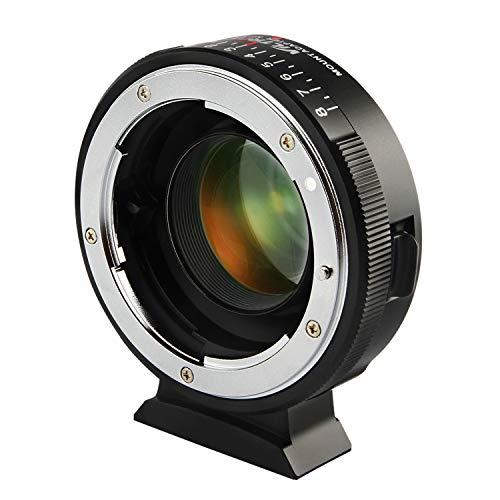 Viltrox NF-M43X Manueller Fokus 0,71x Reduzierer Speed Booster Objektivadapter mit Blendensteuerung für Nikon G D Objektiv auf M4/3 spiegellose Kamera GH5 GH4 GF9 GX85 GX8 E-M5 E-M10 E-PL3 Pen-F BMPCC