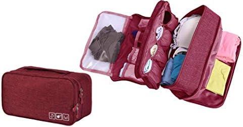 Almacenamiento a Prueba de Agua Bolsa de Viaje Organizador para los Sujetadores, Ropa Interior, artículos, etc. Accessorios de Viaje(Red)