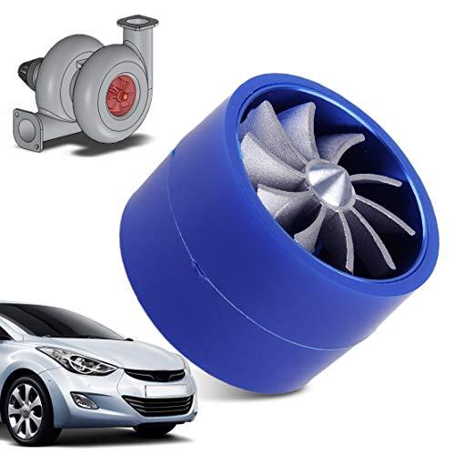 LnNcWcD Turbina Beler Car Auto Supercharger Turbonator Doble Turbo Cargador de la Toma de Aire/Combustible en Forma for el Ventilador/Ajuste for Ahorro de Gas/for VW/Ajuste for Audi/Ajuste for
