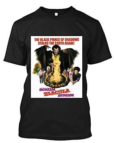 Movie Poster of #Scream, Blacula, Scream! #Pam Grier T Shirt Gift Tee for Men Women Black