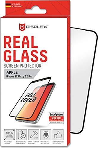 Displex Display-Schutzglas \'Real Glass 3D\' passend für Apple iPhone 12 & iPhone 12 Pro (6,1 Zoll), Clear