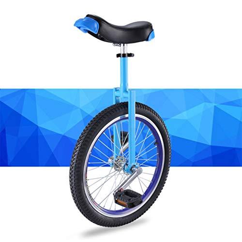 OFFA Einrad Unicycle for Kinder Erwachsene 16/18/20 Zoll Rad Einräder Gabel Mangan Stahlhalterung, Standard Komfortsattel, Anti-Skid Acrobatics Bike Outdoor Sports Anfänger Teens Fitness Pedal Bike