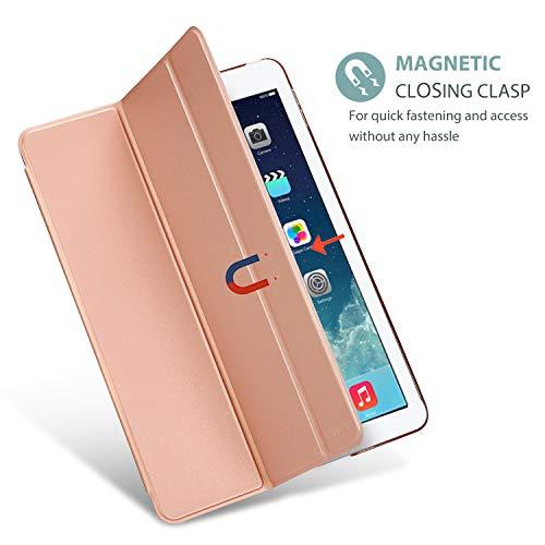 ProCase iPad Air Ultra Dünn Smart Hülle, Leichte Stand Schutzhülle Shell mit Translucent Frosted Rückhülle für Apple iPad Air (A1474 A1475 A1476) –Rosagold