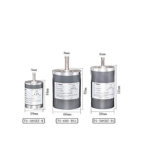Motor de engranaje magnético DC Permanenr 12V 24V 200/3000/4000/5000 Rpm de alta velocidad 38/50/60 mm diámetro bemonoc DC Motor eléctrico para bricolaje, DIA 50 4000 RPM, 12 V.