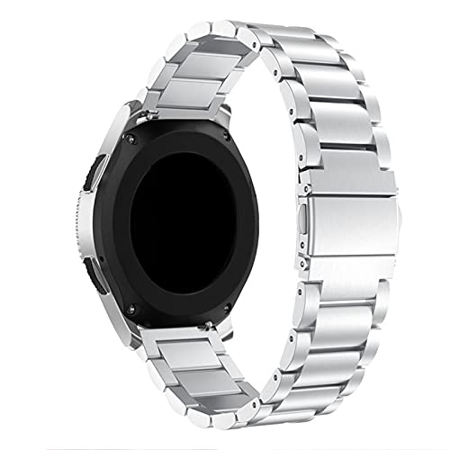 HGNZMD Correas De Repuesto Compatibles con Galaxy Watch 42Mm / 46Mm, Correa De Muñeca De Acero Inoxidable Bandas De Metal Transpirables Compatible con Galaxy Watch 42Mm / 46Mm Smart Watch,Silver 42mm