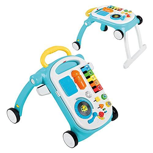 Baby Einstein Musical Mix 'N Roll 4-in-1 Activity Walker & Table, Ages 6 Months +