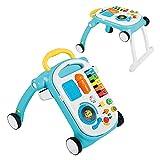 Baby Einstein, Andador y Mesa de actividades Musical Mix 'N Roll 4 en 1, desarrollo de habilidades motoras y musicales