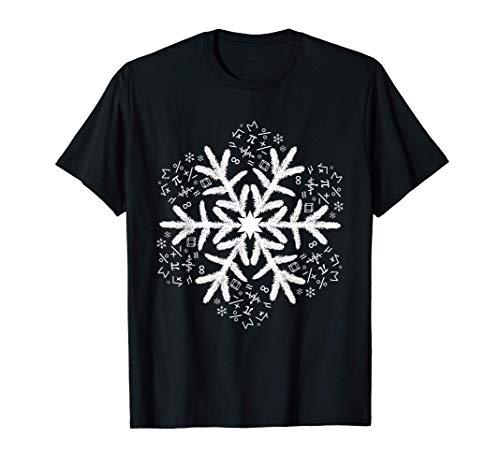 数学クリスマスギフトスノーフレーク数学 Tシャツ