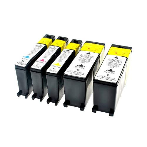 Set Tintenpatronen kompatibel für Lexmark 100XL Lexmark100 Lexmark 100 Schwarz+Color, Schwarz 510 S,Color je 600 S, kompatibel