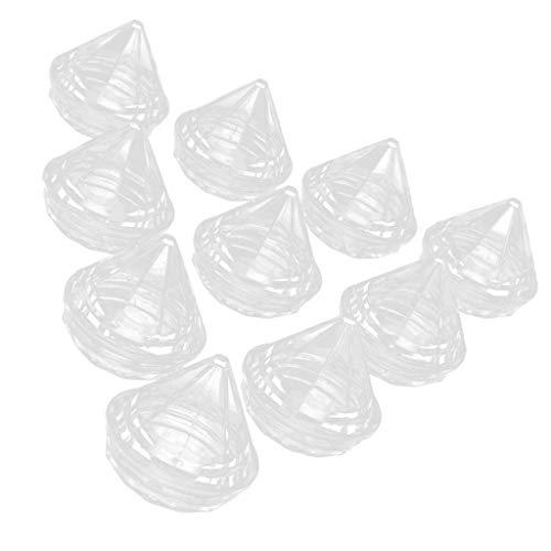 Tarros de Maquillaje Vacíos de Plástico de 10 Piezas para Lociones, Bálsamo Labial, de Maquillaje