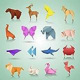 JAOMON Juego de 150 Kits de Papel de Origami Plegables, Proyectos de Arte Creativo Cuadrados de...