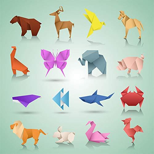 JAOMON Juego de 150 Kits de Papel de Origami Plegables, Proyectos de Arte Creativo Cuadrados de Origami de 17 * 17 cm, Papel de Origami Surtido Complementario, Principiantes de Origami Doble Cara