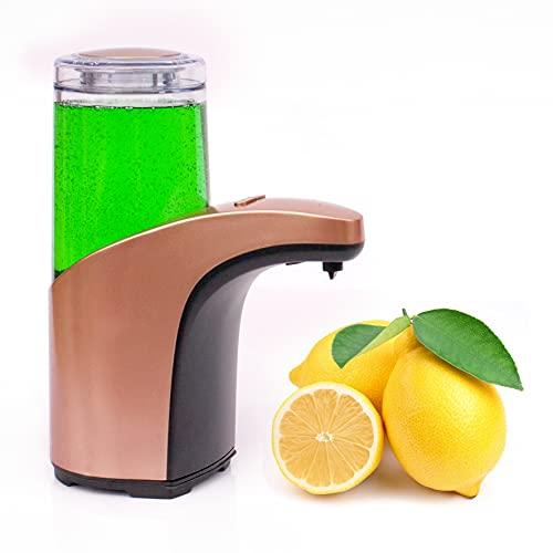 Bauqoo - Dispensador de jabón automático con sensor de infrarrojos, desinfectante, manos y accesorios para el hogar, dosificador automático de jabón higienizante - Idea regalo de 300 ml