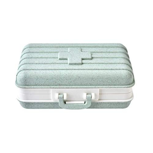 Medizin Box Set Haushalts Medizin-Kasten-Speicher-Organisator-Behälter-Kasten Erste-Hilfe-Kit for Not- und Überlebenssituationen for Home Office (Color : Light Green)