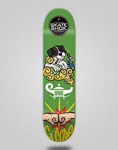lordofbrands Monopatín Skate Skateboard Deck Tabla Skate Shok G-Code Green (8.0)