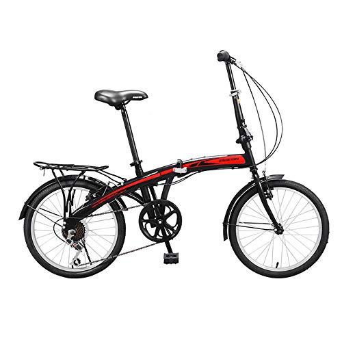 Bicicleta de Velocidad Variable, Bicicleta Plegable, NeumáTicos de 20 Pulgadas, Bicicleta de CercaníAs de 7 Velocidades, Utilizada para Ir Al Trabajo, Adecuada para Adultos Y Estudiantes /