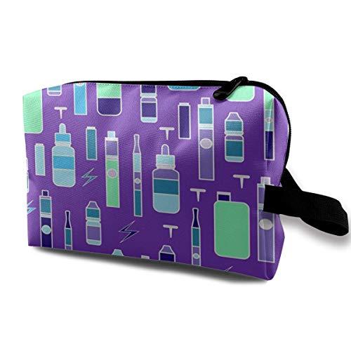 DJNGN Makeup Bags For Women,Travel Makeup Bag,Small Cosmetic Bag Vape Of Vaping On Color Addiction Atomizer Battery