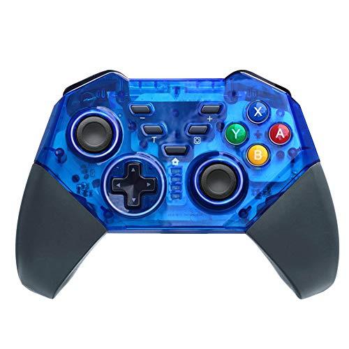 JFUNE Mando Inalámbrico para Nintendo Switch, Wireless Pro Switch Controller Controlador Bluetooth Gamepad 8.0 (Azul Switch Controller)