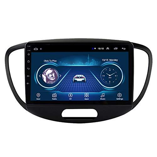 Flower-Ager Autoradio 2 DIN Car Stereo per Hyundai I10 2008-2012 2.5D Touch Screen Supporto DSP Vivavoce Bluetooth Comandi al Volante Uscita Video AUX/Cam/DVR Input,WiFi,2+32G