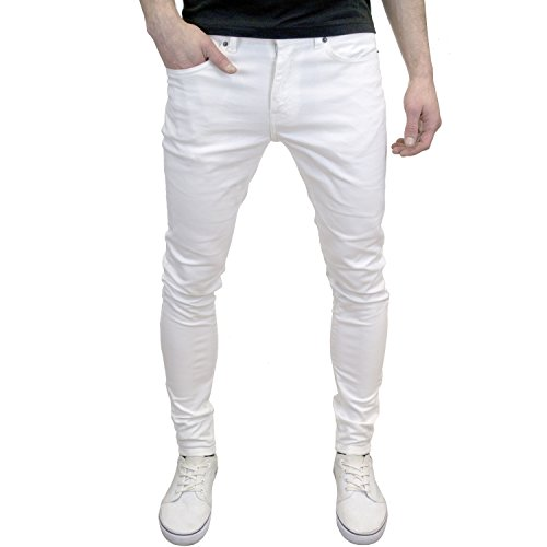 526Jeanswear Senjo Stretch Super Skinny Fit Jeans bianco W28 / L30