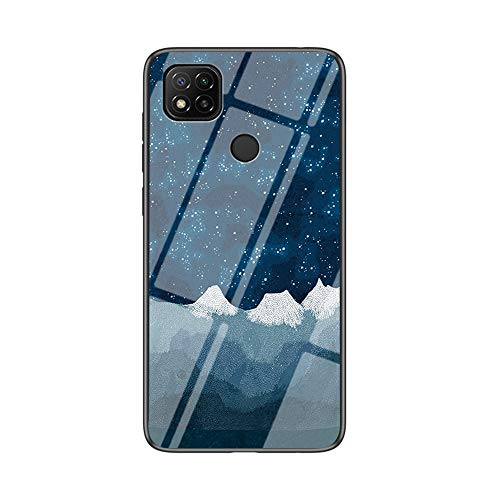 WRNM Para Xiaomi Redmi 9c, 9h Estuche De Telefonía De Cristal Templado, Estuche Estrellado, Estuche Anti-arañador, Estuche A Prueba De Golpes Con Marco De Tpu Suave, Cubierta De Parachoques X(Color:F)