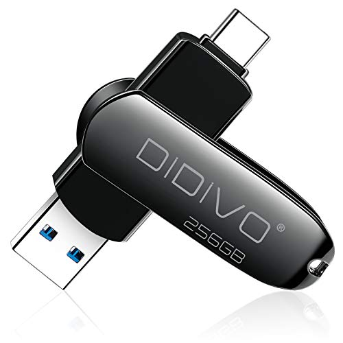 DIDIVO USB C Memory Stick 256GB USB C Flash Drive 2 in 1 USB 3.0 Type C...