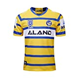 YINTE 2019 Parramatta Eels World Cup Cup Rugby Jersey, Homen Home and Away Rugby Camiseta De Rugby, Camiseta De Algodón Jersey T-Shirt Transpirable Deportes Jogging Polo C Yellow-XXL