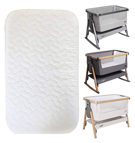 Replacement Mattress for Tutti Bambini Bedside Crib Quilted Microfibre Hypoallergenic Washable Material 83cm x 50cm x 4cm
