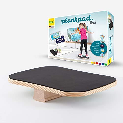 Plankpad by Erzi Kids – Entraîneur de fitness complet et Balance Board pour enfants avec application sur smartphone – Pour que les enfants s'amusent à faire de l'exercice.