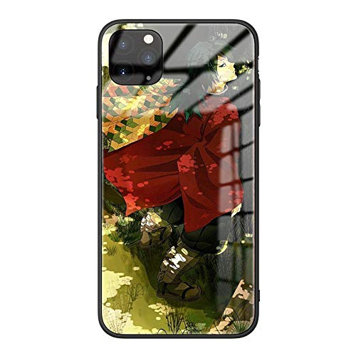 Demon Slayer Phone Case para iPhone 12 iPhone 12 Pro/Pro MAX Ultra-Thin Soft TPU Glass Bumper Protective-12 Pro-Demon_Slayer_For_iPhone_6S