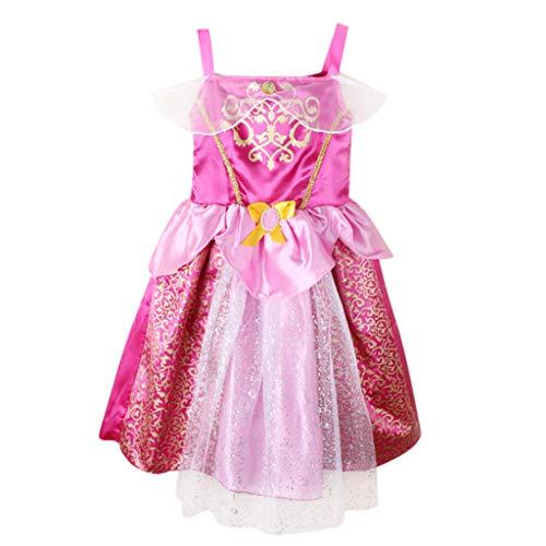 K-youth® Vestidos del tutú del Partido de los Trajes de la Princesa Bling de los Trajes del bebé de Las Muchachas del niños Vestido de niñas Fiesta Ropa niña Bebe para 3 a 8 años