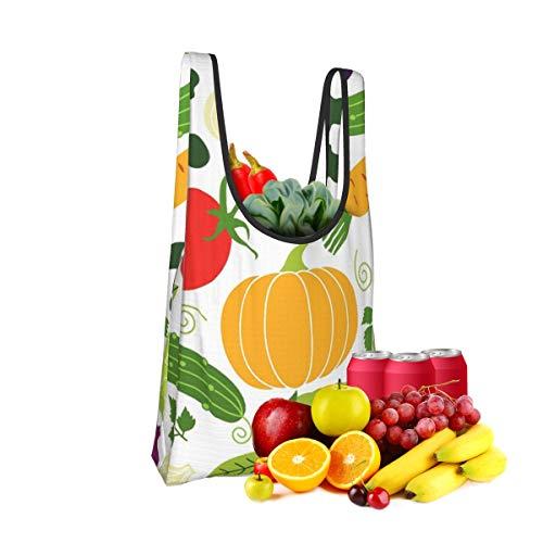 Mark Stars Vegan Vegetables Fold Eco-Friendly Shopping Bags Large Capacity Daily Necessity