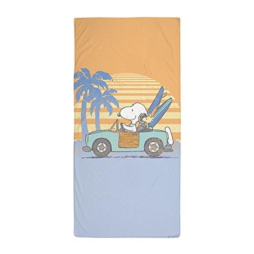 CafePressStrandtuch mitSnoopy-Design, Snoopy am Strand, groß, einzigartiges Design, 76,2 x 152,4 cm