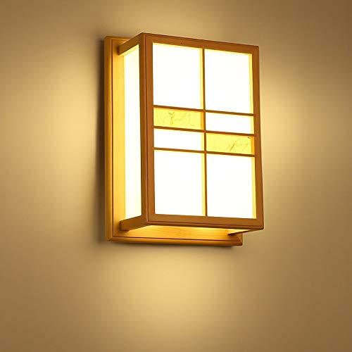 YUNDONG Lámpara de Piso de Piso Lámpara de Pared de Madera Japonesa habitación Dormitorio de Noche lámpara de Pared pequeña luz de Techo