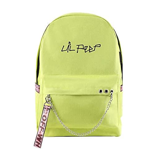 CQW Lil Peep impresión cinturón Cadena Mochila Bolsa de Viaje portátil Bolsa de computadora Estudiante Aula Mochila Escolar (24)