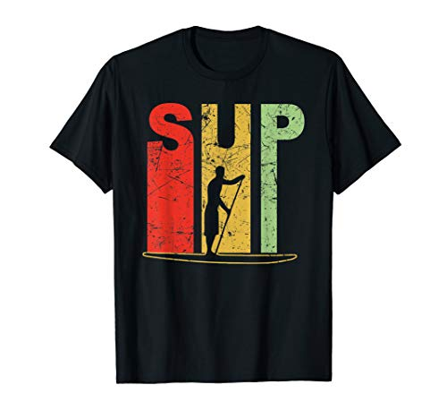 Stand Up Paddling T-Shirt SUP Paddle Board Surfen Surfer T-Shirt
