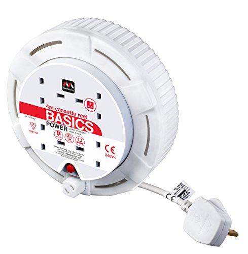 MasterPlug Kabeltrommel sct0413/4W-mp 44M 13AMP klein Kassette