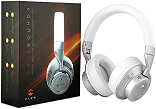 WaveSound 3 Bluetooth 4.0 Over Ear Headphones w/Active Noise Cancelling [Previous Version] (White)