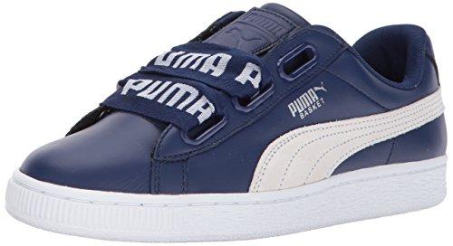 PUMA Women's Basket Heart DE Wn, Blue Depths-Puma White, 9.5 M US