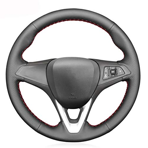 vitesurz Funda para Volante de Coche, Funda para Volante de Cuero Negro, para Opel Astra (K) Corsa (