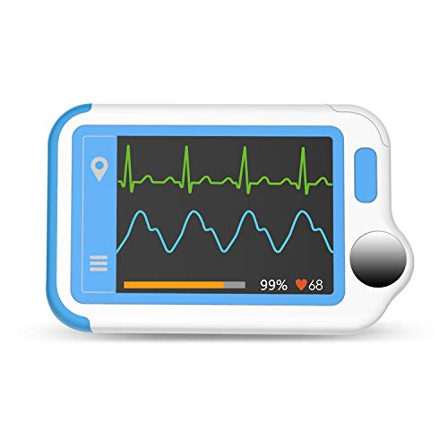 Wellue Heart Monitor, Bluetooth Heart Monitor, Portable Handheld Heart Monitoring Device for Home Use, Free APP for Phone & PC Software for Home Use and Wellness