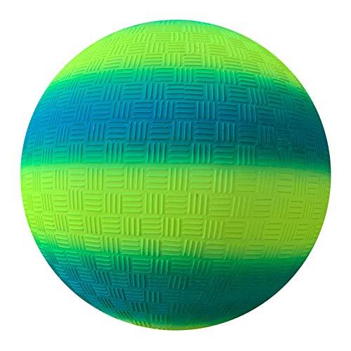 DDHH Bolas de arco iris de PVC para juegos de pelota de kickball para actividades al aire libre, patio trasero, parque y playa, diversión al aire libre (8.5 pulgadas)